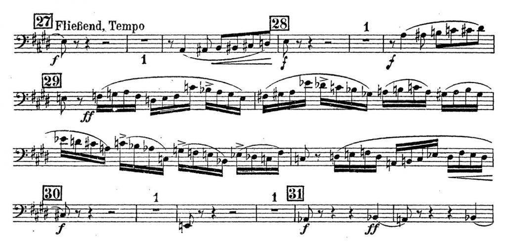 Schoenberg Kammersymphonie Contrabassoon orchestra audition excerpt
