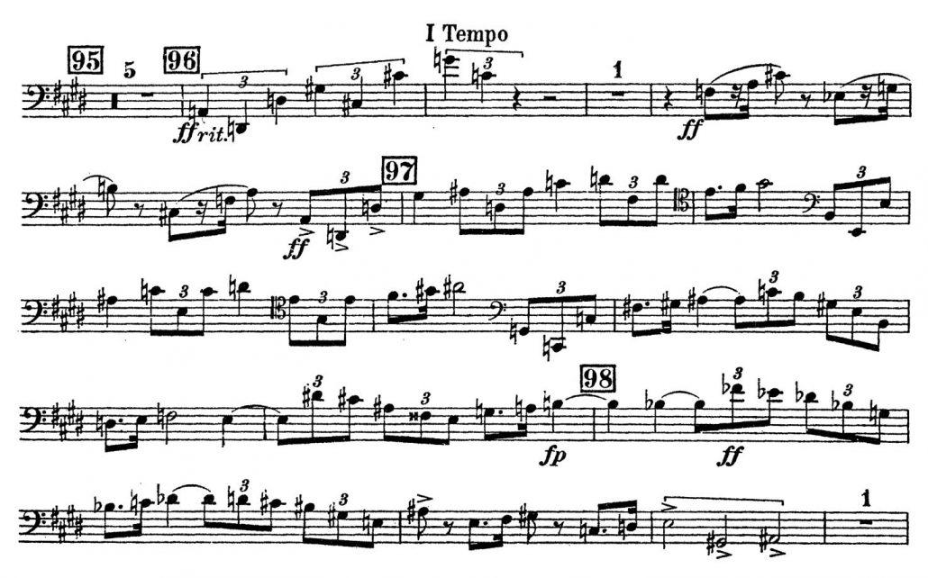 Schoenberg Kammersymphonie Contrabassoon orchestra audition excerpt 2