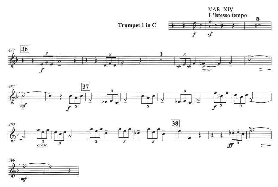 All Music Chords rachmaninoff sheet music : Trumpet: Rachmaninoff: Rhapsody on a Theme of Paganini, Var. 14 ...