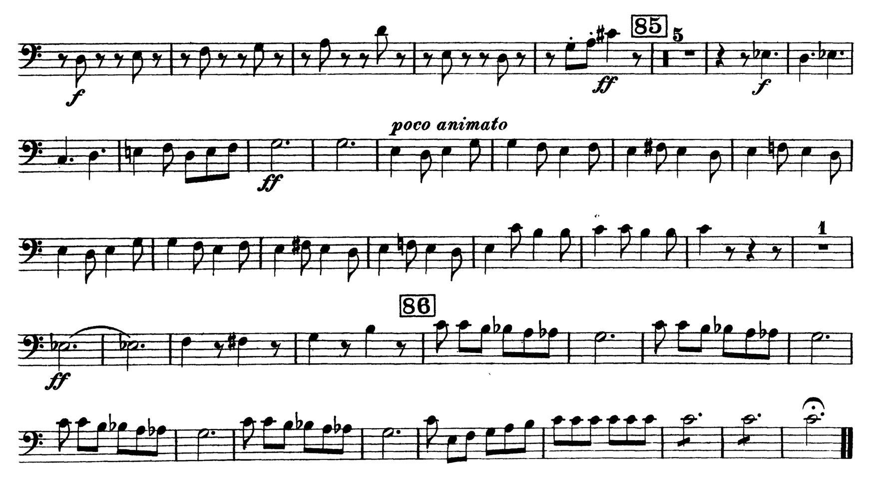 symphony fantastique Excerpt 1 - movement iv: to , excerpt 2a - movement v: to 2 measures before , excerpt 2b - movement v: 11 measures before to.