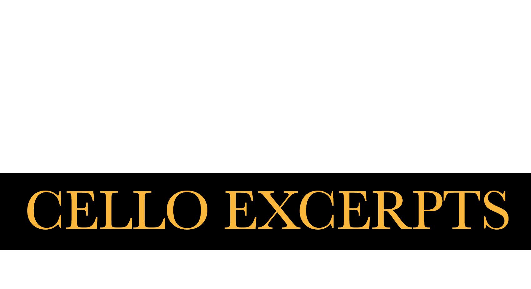 Cello - Orchestra Excerpts