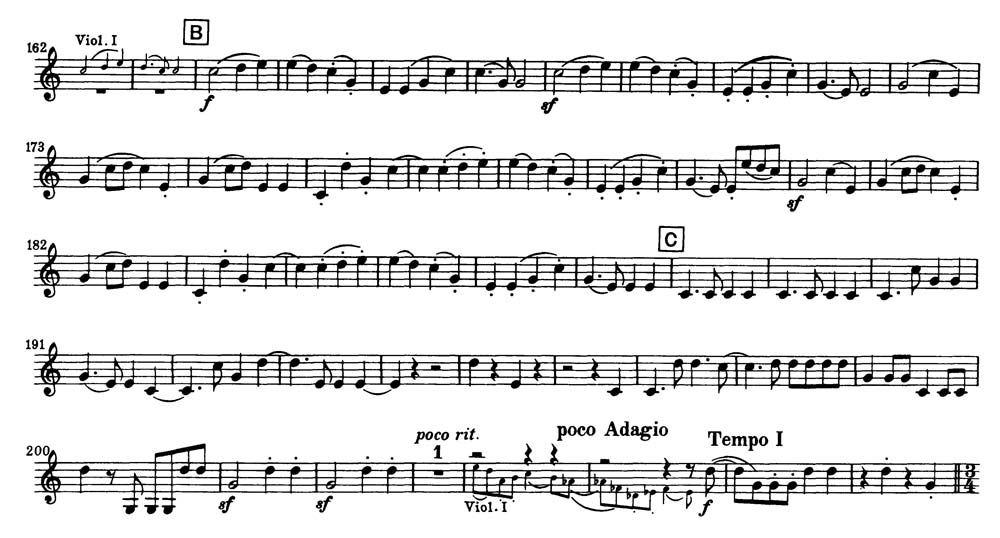 All Music Chords french horn sheet music : Trumpet: Beethoven: Symphony No. 9, Mvt. IV [B] to 15 measures ...