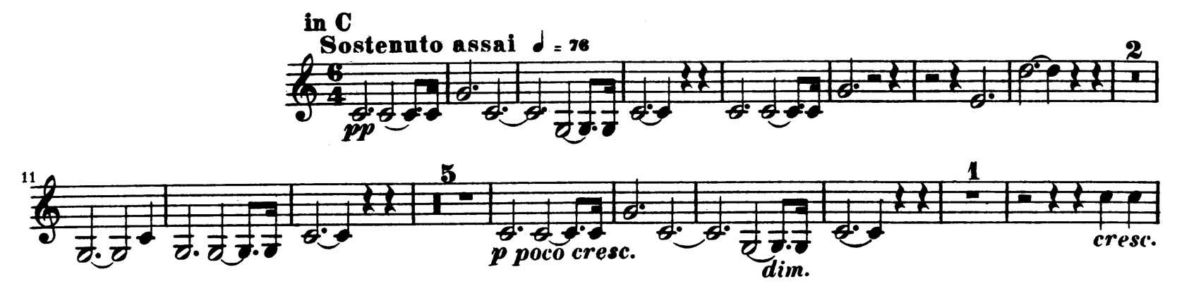 Trumpet: Schumann: Symphony No  2, Mvt  I Beginning until m