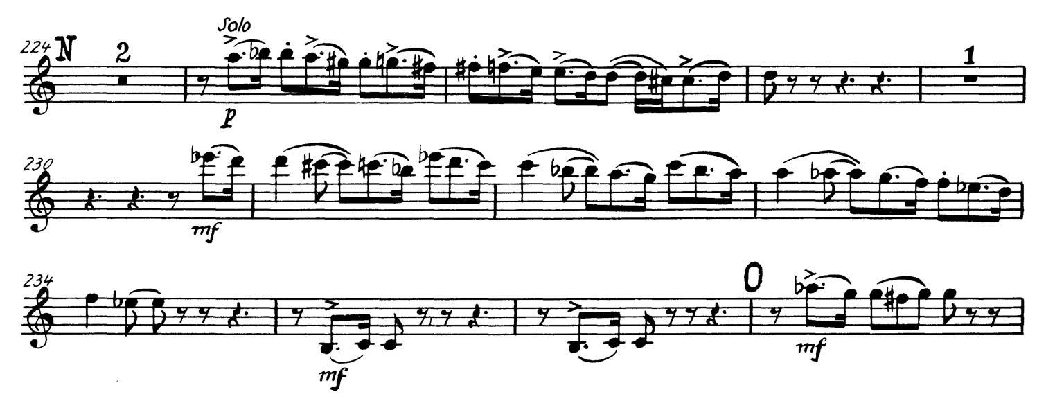Clarinet: Tchaikovsky: Symphony No  4 (6 Excerpts