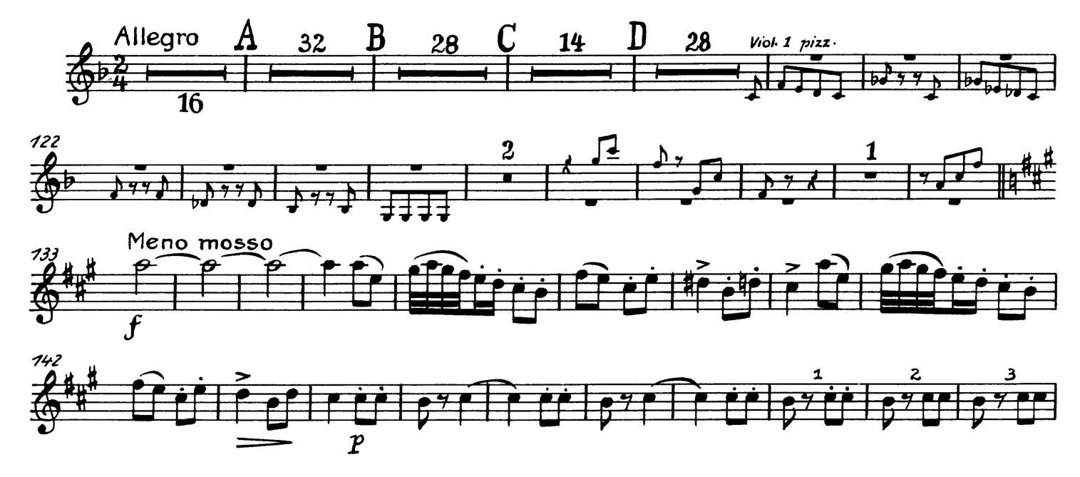 Oboe: Tchaikovsky: Symphony No  4, Mvts  II & III Excerpts