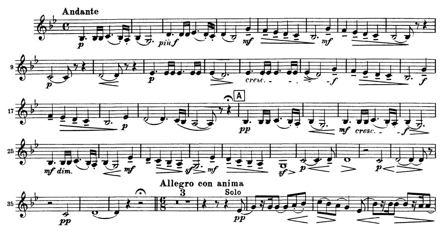 5Th Symphony clarinet: tchaikovsky: symphony no. 5, (2 excerpts